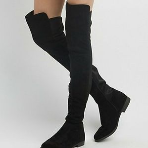Shoes - New Suede Stretch Over-the-Knee Boot